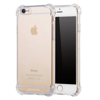 Anti-shock Silicone TPU back cover case for Apple iPhone 6S Plus/ 6Plus (Transparent) - intl Price Philippines