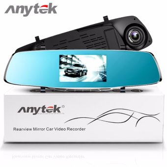 Anytek X3 4.3 inch HD Car Rear View Mirror Dash Camera Recorder (Silver) - 2