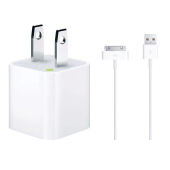 Apple 5W Charger with USB Sync Cable for iPhone 4/4s/3G/3Gs/iPad