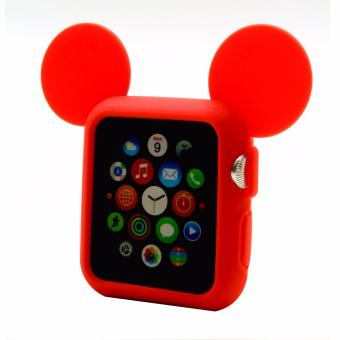 Apple Essentials Mickey Rubber Case for Apple Watch 42mm (Red)