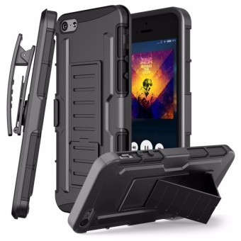 Apple iPhone 5 /5s /SE Optimus Designer (Black) Phone Case with Kickstand