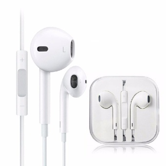 Apple Orignal Earpod Headphones For Iphone (White) With Free Vivo In-Ear Wired Headset Earphone (White)