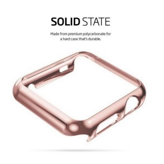 Apple Watch 38mm Series 1 SCREEN PROTECTOR CASE,Ultra Thin 9HHardness [Full Coverage] Electroplate Screen Protector with MetalBumper - intl - 4
