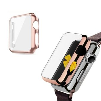Apple Watch 42mm Series 1 SCREEN PROTECTOR CASE,Ultra Thin 9HHardness [Full Coverage] Electroplate Screen Protector with MetalBumper - intl
