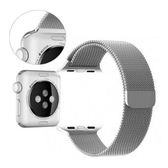 Apple Watch Band - 42mm Milanese Loop Stainless Steel Bracelet Strap Magnetic Closure Clasp - Replacement Wrist Band for iWatch Series 1 Series 2 Sport & Edition - intl - 4