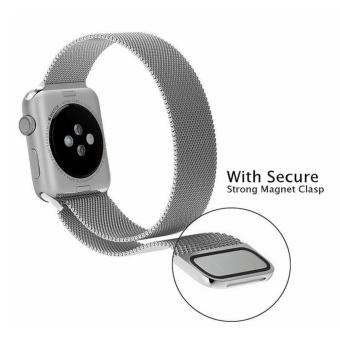 Apple Watch Band - 42mm Milanese Loop Stainless Steel Bracelet Strap Magnetic Closure Clasp - Replacement Wrist Band for iWatch Series 1 Series 2 Sport & Edition - intl - 3