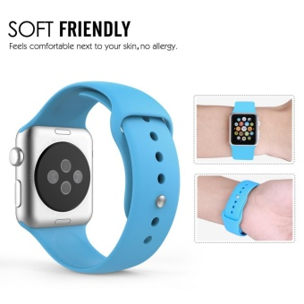 Apple Watch Band Series 1 Series 2,42mm Silicone Apple iWatch Smart Watch Sport Band Quick Release Bracelet Strap Wristband Replacement Watchband - intl - 5
