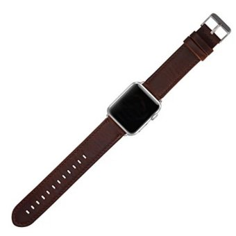 Apple Watch Band Series 1 Series 2,Premium Vintage Genuine LeatherWrist Strap Replacment with Classic Stainless Steel BuckleClasp,Crazy Horse Style for iwatch,42mm - intl - 3