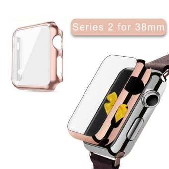 Apple Watch Series 2 Case 38mm,Full Cover Apple Watch Series 2/NikeCase Slim Hard PC Plated Protective Bumper Cover & 0.2mmShockproof Sheld Guard Screen Protector for iWatch 2016 - intl