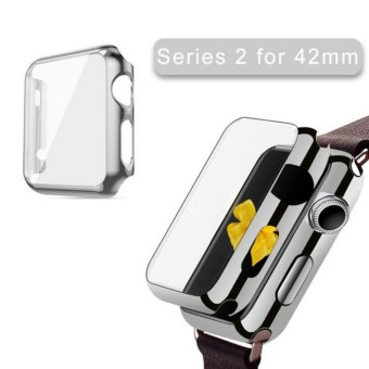 Apple Watch Series 2 Case 42mm,Full Cover Apple Watch Series 2/Nike Case Slim Hard PC Plated Protective Bumper Cover & 0.2mm Shockproof Sheld Guard Screen Protector for iWatch 2016 - intl