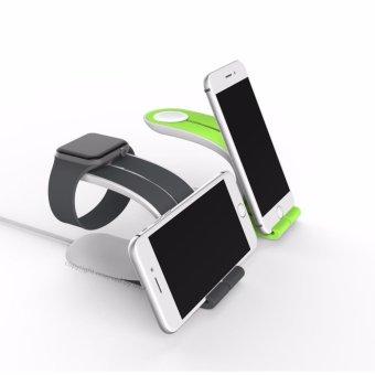 Apple Watch Stand 2 in 1 Phone Desktop Tablet Stand & iWatchCharging Dock for Apple iWatch, iPhone, iPad(Gray) - intl - 3
