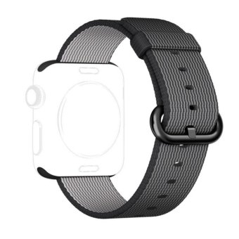 Apple Watch Strap 38mm,Premium Nylon Woven Smart Watch Replacement Wrist Watch Band with Adjustable Buckle for New Apple iWatch Series 2/ Series 1 - intl
