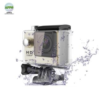 APPO A7 Ultra HD 1080P Waterproof Sports Action Camera (Gold)