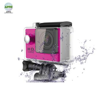 APPO A7 Ultra HD 1080P Waterproof Sports Action Camera (Pink)