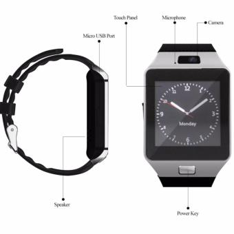 APPO M9 Bluetooth Phone Quad Smart Watch Touchscreen with Camera(Silver) - 3