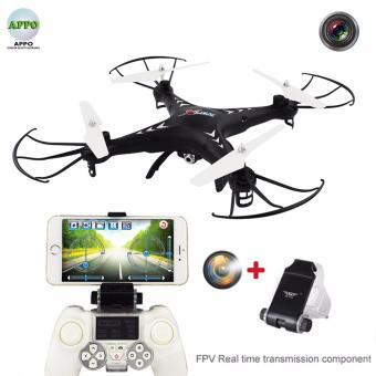 APPO SJR/C X-series X300-1CW 2.4 GHz Gyro Realtime TransmissionQuadcopter Drone with HD Camera 6 Axis 4 CH (Black)