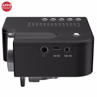 APPO UC28A 1080P Simplified Home Theater Micro LED Projector (Black) - 5