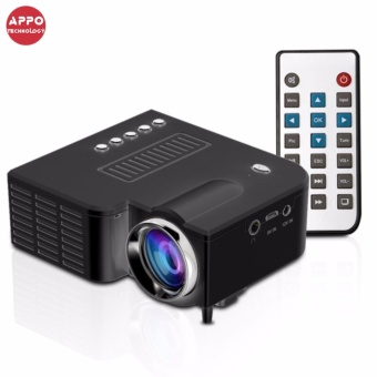 APPO UC28A 1080P Simplified Home Theater Micro LED Projector (Black)