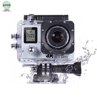 APPO W9D Dual Screen Ultra HD 4K 1080P 12MP WIFI Waterproof MiniSports Action Camera (Silver)