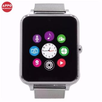 APPO Z60 Bluetooth Smart Watch Phone With SIM and TFSlotsCard(Silver) - 2
