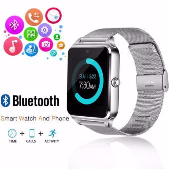 APPO Z60 Bluetooth Smart Watch Phone With SIM and TFSlotsCard(Silver) - 4