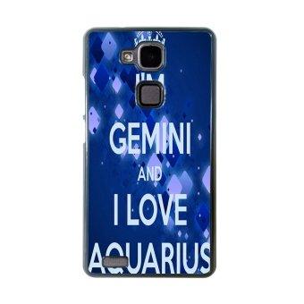 Aquarius Constellation Pattern Phone Case for Huawei Mate 7 (Black)