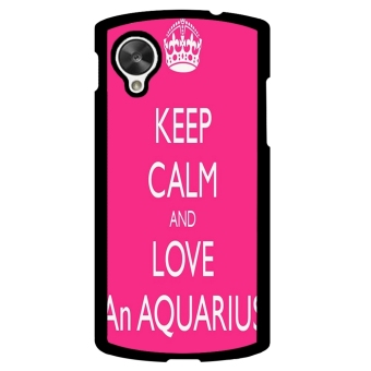 Aquarius Constellation Pattern Phone Case for LG Nexus 5 (Pink)