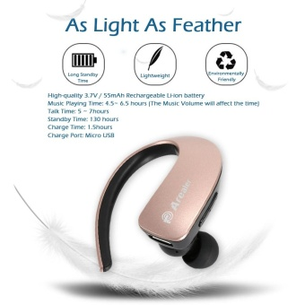 Arealer Q2 Wireless Stereo Bluetooth Headphone In-ear Sport Bluetooth 4.1 Music Headset Hands-free w/ Mic for iPhone 6S 6 iPad iPod LG Samsung S7 Note 5 Smart Phones Other Bluetooth-enabled Devices - intl - 3