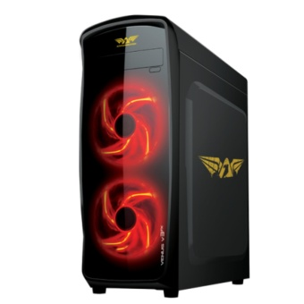 Armaggeddon Venus V3FX Gaming PC Chassis with Built-in X-fanScarlet Blade -Black