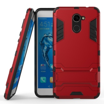 Armor Case For Huawei Y7 Prime Dual Layer Shockproof Stand Protective Cover Red