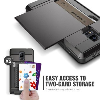 Armor Cases for Samsung Galaxy Note 4 Credit card slot WalletShockproof - intl