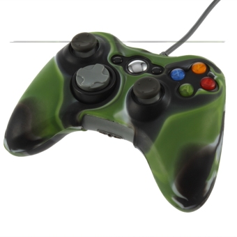 Army Camouflage Silicone Cover Case Skin For Xbox 360 Wireless Controller