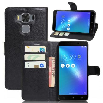 Asus 3max/zc553kl embossed leather wallet phone case