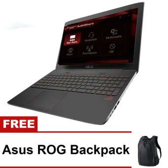 "Asus ROG GL752VL-T4009T 17.3"" Intel Core i7-6700HQ 8GB Gaming Laptop with Free Asus ROG Backpack"