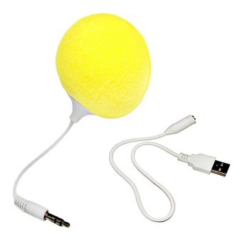 Audio Jack Speaker with Cable Speaker (Yellow)