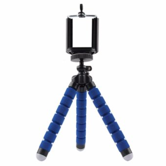 AUKA Mini Portable Flexible Sponge Octopus Tripod Stand Mount WithHolder For Phone Action Camera and Camcorder/redmi 3s phone holder- intl Price Philippines