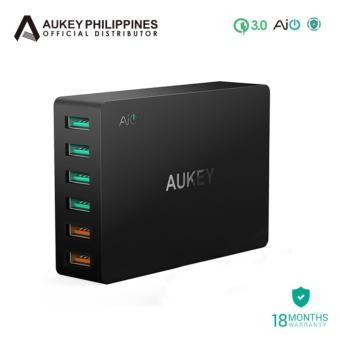 Aukey 6-Port Charging Station with Quick Charge 3.0 - Black