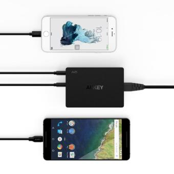 Aukey 6-Port Charging Station with Quick Charge 3.0 - Black - 3