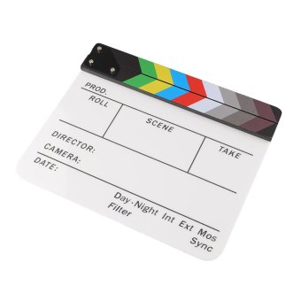 Aukey Clapperboard Acrylic Movie Action Slate Clapper Board