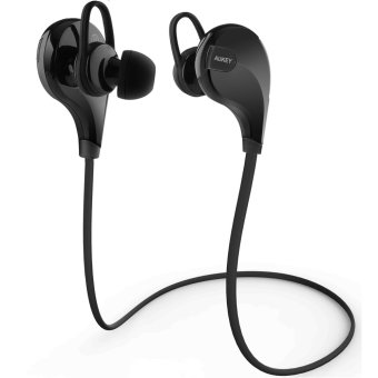 Aukey EP-B4 Bluetooth 4.1 Wireless Stereo Sport Headphones with AptX, Built-in Mic for iPhone, Samsung, Android Smartphones (Black) Price Philippines