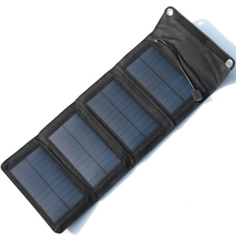 Aukey new 7W PVC Waterproof Folding Solar External Charger Power Panel For Phone - intl