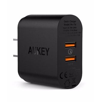 AUKEY PA-T16 36W 2-Port USB Wall Charger with Quick Charge 3.0Qualcomm Certified