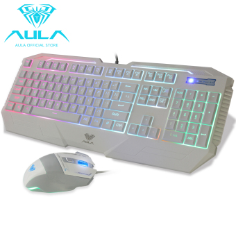 AULA OFFICIAL 2016S Backlit Gaming Mouse and Keyboard Combo(White) - 3