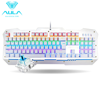 AULA OFFICIAL F2009 Mechanical Gaming Keyboard 104Keys MulticolorsBacklit(Silver) Price Philippines