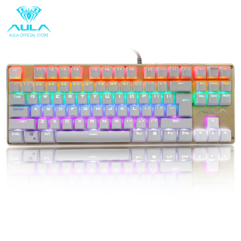 AULA OFFICIAL F2012 Mechanical Multicolor Backlit GamingKeyboard(Gold) Price Philippines