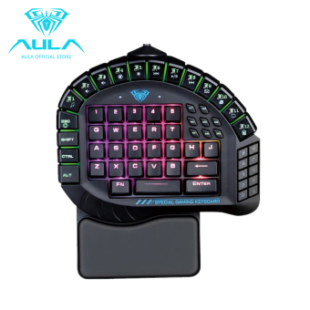 AULA OFFICIAL Master One-hand Gaming Keyboard Removable Hand RestRGB Backlight Mechanical Keyboard - intl Price Philippines