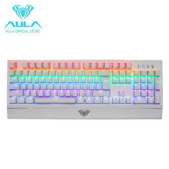 AULA OFFICIAL Wings of Liberty Mechanical Gaming Keyboard 104keysMulticolors LED Backlit(White) Price Philippines