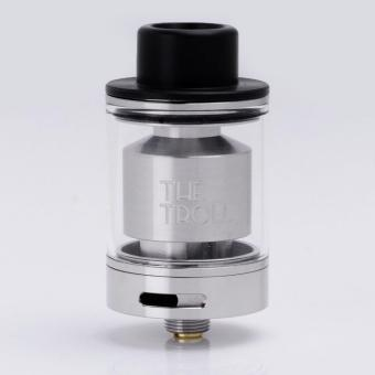 Authentic Wotofo The Troll RTA Rebuildable Tank Vape Atomizer -Silver, Stainless Steel + Pyrex Glass, 5ml, 24mm Diameter
