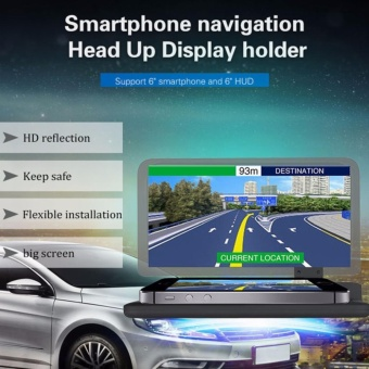 Auto Phone Bracket Car HUD Head Up Display Phone Navigation GPSHolder Mobile Phone Stand for 6 Inch Screen come with Non-slip mat- intl - 2