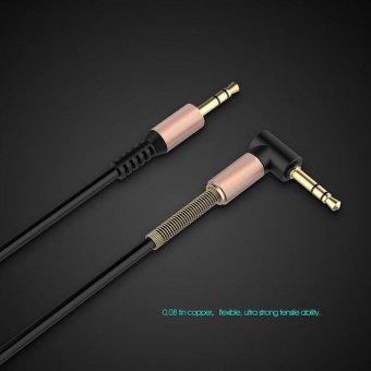 Aux Cable 3.5mm Jack to Jack Gold Plated Connector 90 Degree RightAngle Audio Cable Adapter for Car Speaker Phone Headphone - intl